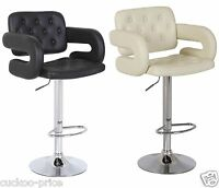 Mercury PU Swivel Faux Leather Breakfast Kitchen Bar Stools Pub Barstools