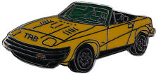 Triumph TR8 car cut out lapel pin - Yellow