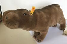 "❤️Steiff Rocky Hippopotamus ~ 085390 ~ 2003 ~12.5"" ~ ID's ~ Woven Fur ~ Plush❤️"