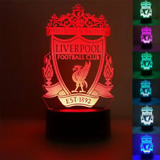 3D LIVERPOOL TEAM Acrylic LED 7 Colour Night Light Touch Table Desk Lamp Gift