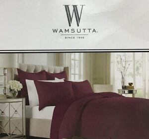 """Wamsutta Serenity Coverlet Quilted, 100% Polyester Full/Queen 90""""x94"""" in Wine"""