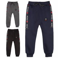 Kids Boys Winter Sweatpants Joggers Harem Pants Fleece Lining Trousers S2810B-1