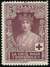 EDIFIL 327** 5 céntimos 1926 Pro Cruz Roja  Sin fijasellos