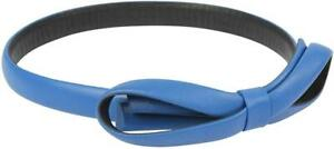 EMPORIO ARMANI Women's Leather Blue Bow Belt Size 60 or 70cm