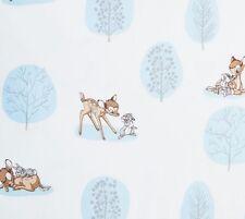 Fat Quarter Disney Bambi Y Thumper juntos 100% algodón acolchada Tela Azul