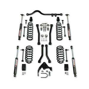 "Teraflex 1256224 Control Arms w/ 9550 VSS Shocks 3"" Suspension Kit for Jeep JK"