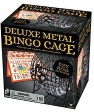 Metal Bingo Cage with Numbered Balls Bingo Cards Plastic Markers & Insructions
