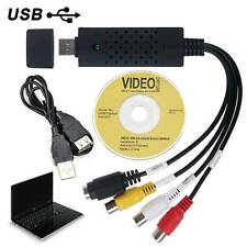 USB2.0 VHS To DVD  Audio Video Converter Capture Full Scart Kit With Leads Cable