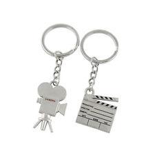 Couple Keychains Set Camera Engraved Pendant Matching Puzzle Key Ring Gift