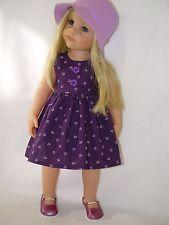 PUPPENKLEIDUNG für Götz Stehpuppe Hannah 50cm Kleidung Kleid u. Hut (OHNE PUPPE)