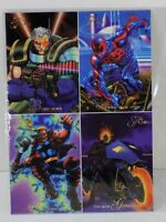 MARVEL FLEER Flair '94 Uncut PROMO 4 CARD in 1 LOT 5x7 Spiderman Cable Ghost Rid
