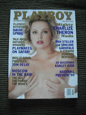 Playboy Magazine 1999 May Charlize Theron Ben Stiller Ashley Judd David Spade