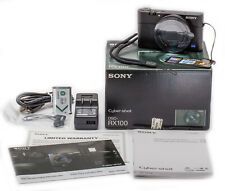 (93) SONY RX100 20.2MP w/10.4-37.1/1.8-4.9 lens all accessories new sealed