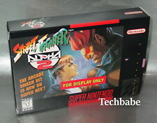 USED SNES Display BOX Super Nintendo Street Fighter Alpha (Box Only no game)