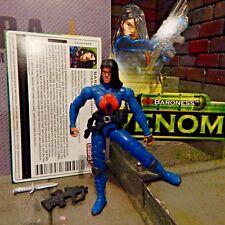 GI JOE ~ 2004 BLUE BARONESS ~ COBRA ~ VALOR vs VENOM ~ 100% & FILE CARD 1984