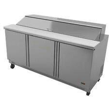 "Fagor Fmt-72-30 72"" Mega Sandwich/Salad Top Refrigerated Counter- 30 Top Pans"