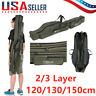 Portable Fishing Rod Carrier Canvas Pole Tools Storage Gear Tackle Bag Case Gift