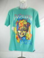 Men's Black Pyramid T-Shirt Tee Size Large Sculls Flames Graphic 100% Cotton
