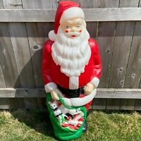 Illuminated 4ft Santa Claus w/ Toy Sack Blow Mold - Empire Christmas 1968