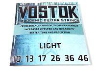 Everly Guitar Strings  Vostok  Cryongenic  Light (10-46)  Increased Lifespan