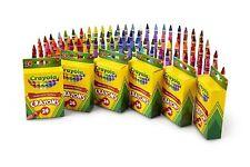 Crayola 24 Count Box of Crayons Non-Toxic Color Coloring School Supplies 6 Packs