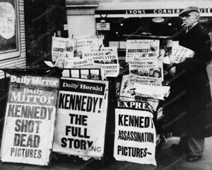 JFK Death Newspaper Stands Headlines 8x10 Photography Reprint