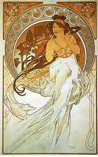 Music by Alphonse Mucha Fine Art Giclee Canvas Print