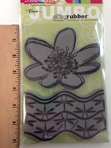 Stampendous Jumbo Cling Water Lily Rubber Stamp Set -  CRS5004 - NEW