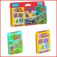 Childrens Card Games Jungle Snap Pairs on Wheels Pack Of 3 Different Kids Games