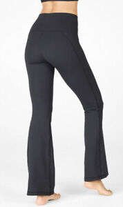 Fabletics Ultra High-Waisted PureLuxe Pant Size 2x Black 18/20 Flare Leg Yoga