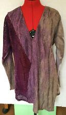 XCVI Knit Asymmetrical V-Neck Sweater Tunic WOMENS S SMALL PURPLE **I