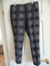 Halogen Dotted Skinny Pants in Gray, Blue Size 14