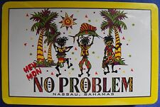 Hey Mon No Problem Nassau Bahamas Souvenir Playing Cards Deck Jamaican