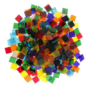 A Pack Of 160g Mixed Color Mosaic Tiles, Stained Transparent Glass Mosaic Pieces
