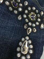 AN for ME  WOMEN'S Embellished  WEDDING BRIDAL JEANS Size 31-  Orig.$350.
