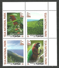 TONGA 2017 EUA NATIONAL PARK BIRDS PARROTS TREES SET MNH