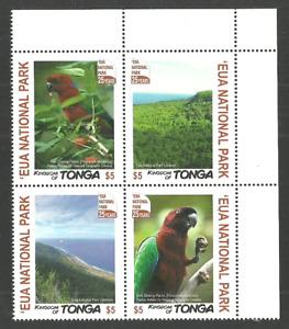 TONGA 2017 EUA NATIONAL PARK BIRDS PARROTS TREES SET MNH