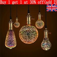 E27 LED Light Bulb 3D Fireworks Decorative Edison Party Lamp A60 ST64 G80 G95
