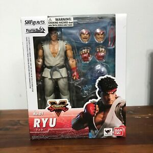 SH Figuarts Bandai Street Fighter 5 Ryu Action Figure - USED, Complete w/ Box