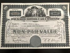 Packard Motor Company original issued stock certificate g8 auto collectible