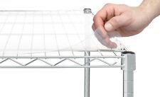 HSS Wide Wire Rack Shelf Liners For 18' X 48' Shelf, Clear Plastic, 5-PACK New