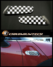 F55 F56 MK3 MINI Cooper/S/ONE Chequered Flag Side Turn Signal Scuttles Insert