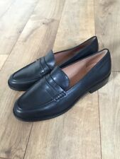 New Madewell The Elinor Loafer in Leather Black Sz 10 F5096
