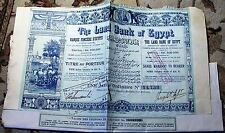 Land Bank of Egypt. Share Warrant to Bearer dated 1905 share bond