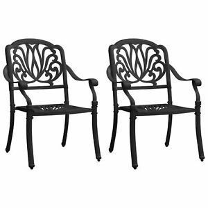vidaXL Garden Chairs 2 pcs Cast Aluminum