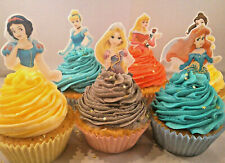 photograph relating to Disney Princess Cupcake Toppers Free Printable named Disney Princess Edible Cake Toppers for sale eBay
