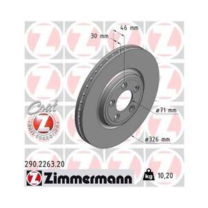 2 Disque de frein ZIMMERMANN 290.2263.20 COAT Z convient à JAGUAR