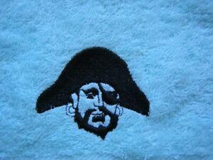 Personalised face flannel. pirate design price £4.45  Inc P&P
