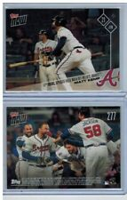 2017 Topps NOW #277 Matt Kemp Walk-off HR Lifts Braves SP only 155 printed