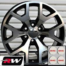 "20"" inch 20 x9"" Wheels for GMC Yukon Black Machined GMC Sierra 2014 Rims"